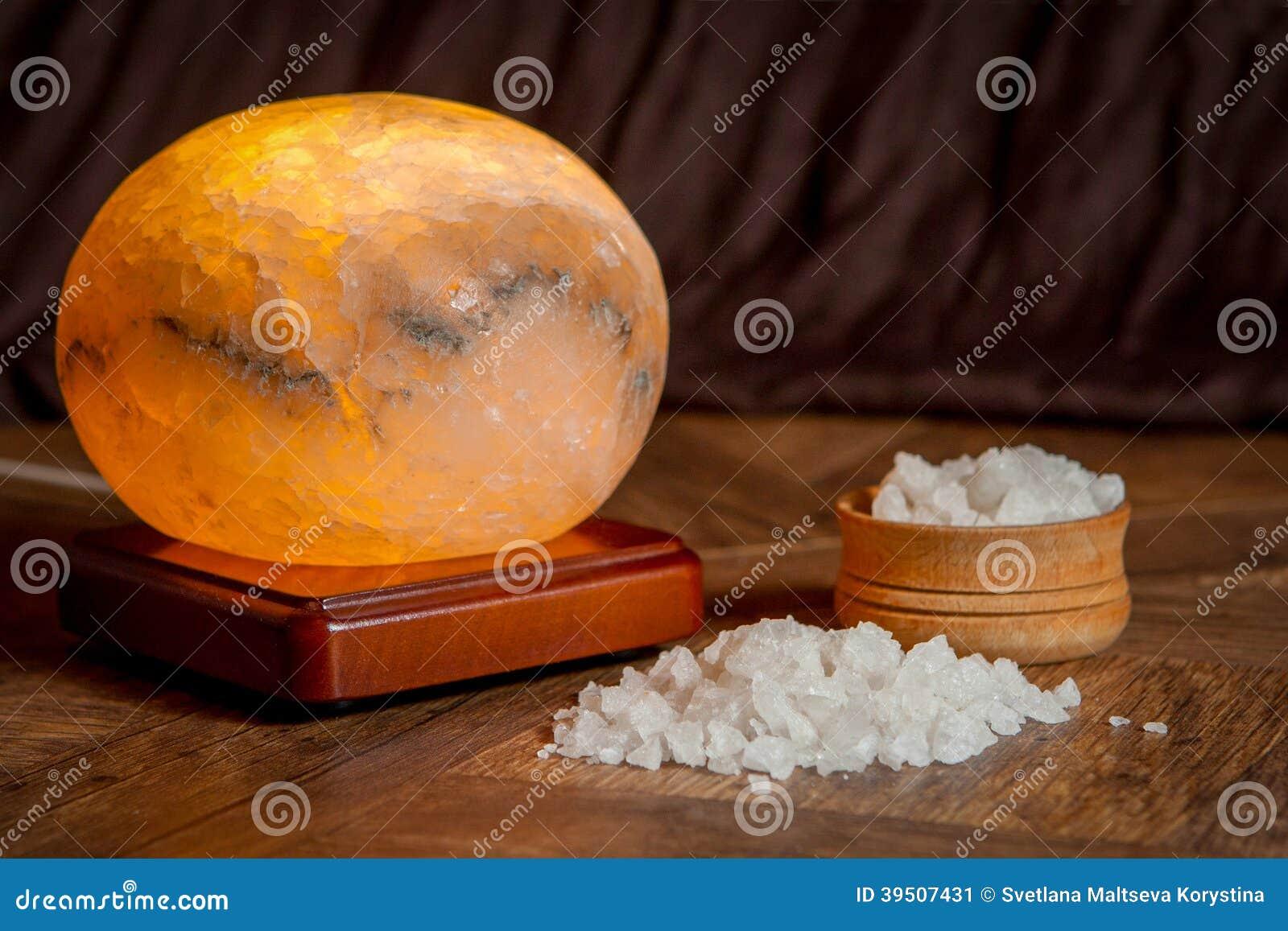 Sea salt and salt lamp