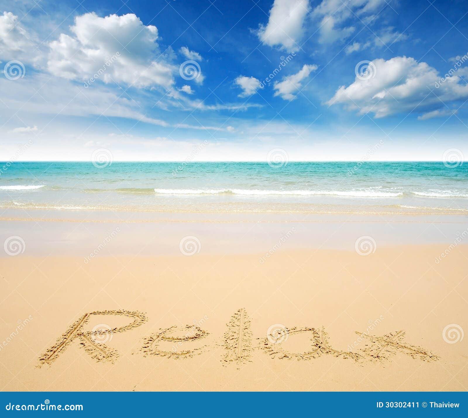 Sea Sand Sun Beach Blue Sky Thailand Landscape Nature Viewpoint Stock ...