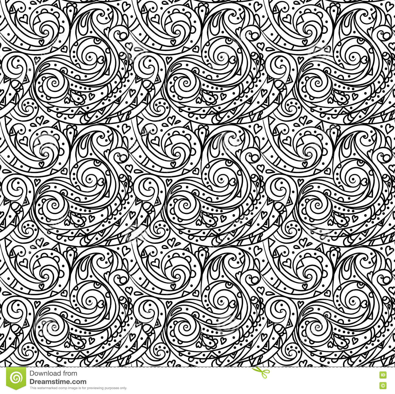 Adult coloring pages black and white ~ Sea Seamless Pattern, Black And White Wave . Adult ...