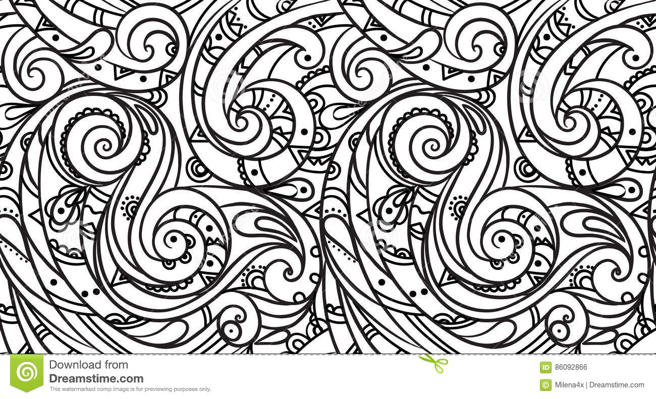 Sea Seamless Pattern Black And