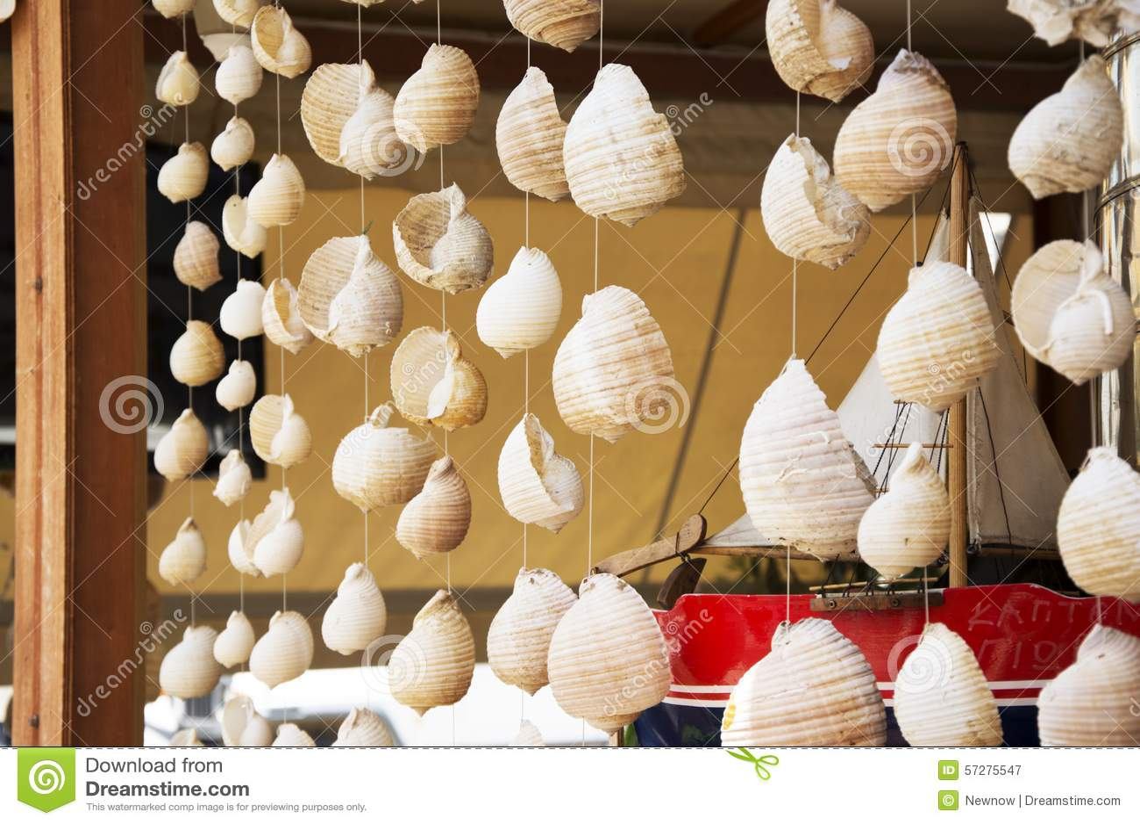 Sea Shells Hanging As Decor Stock Image Image 57275547