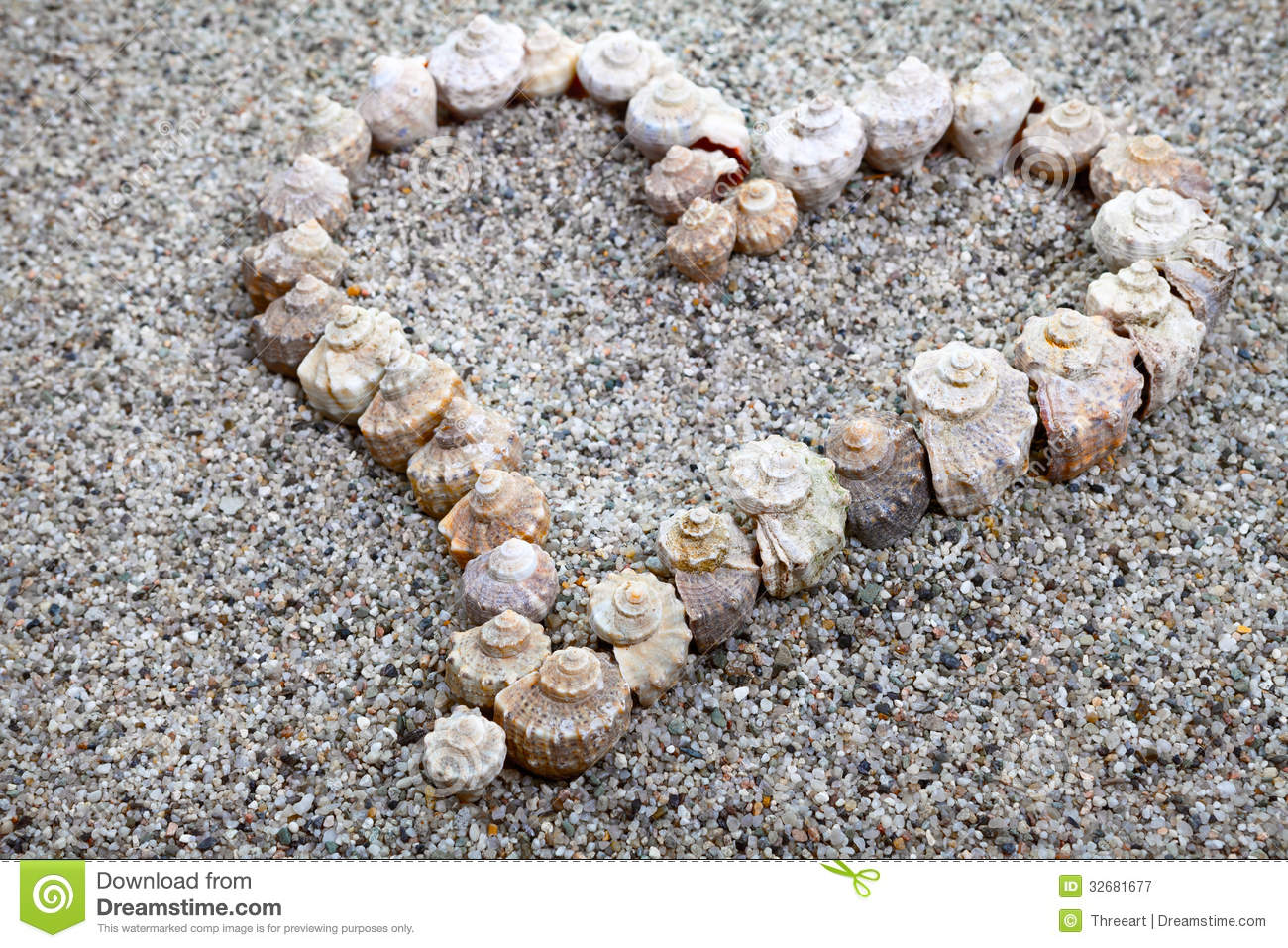 Sea shells heart stock image image of love white for What are shells made of