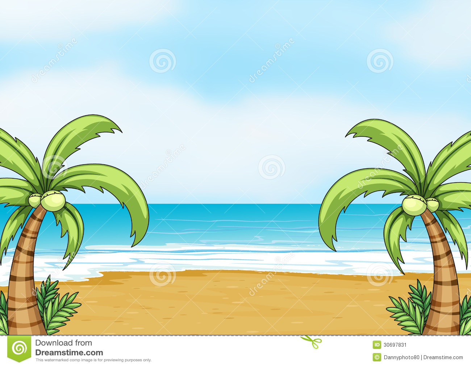 A Sea Shore Stock Image Image 30697831