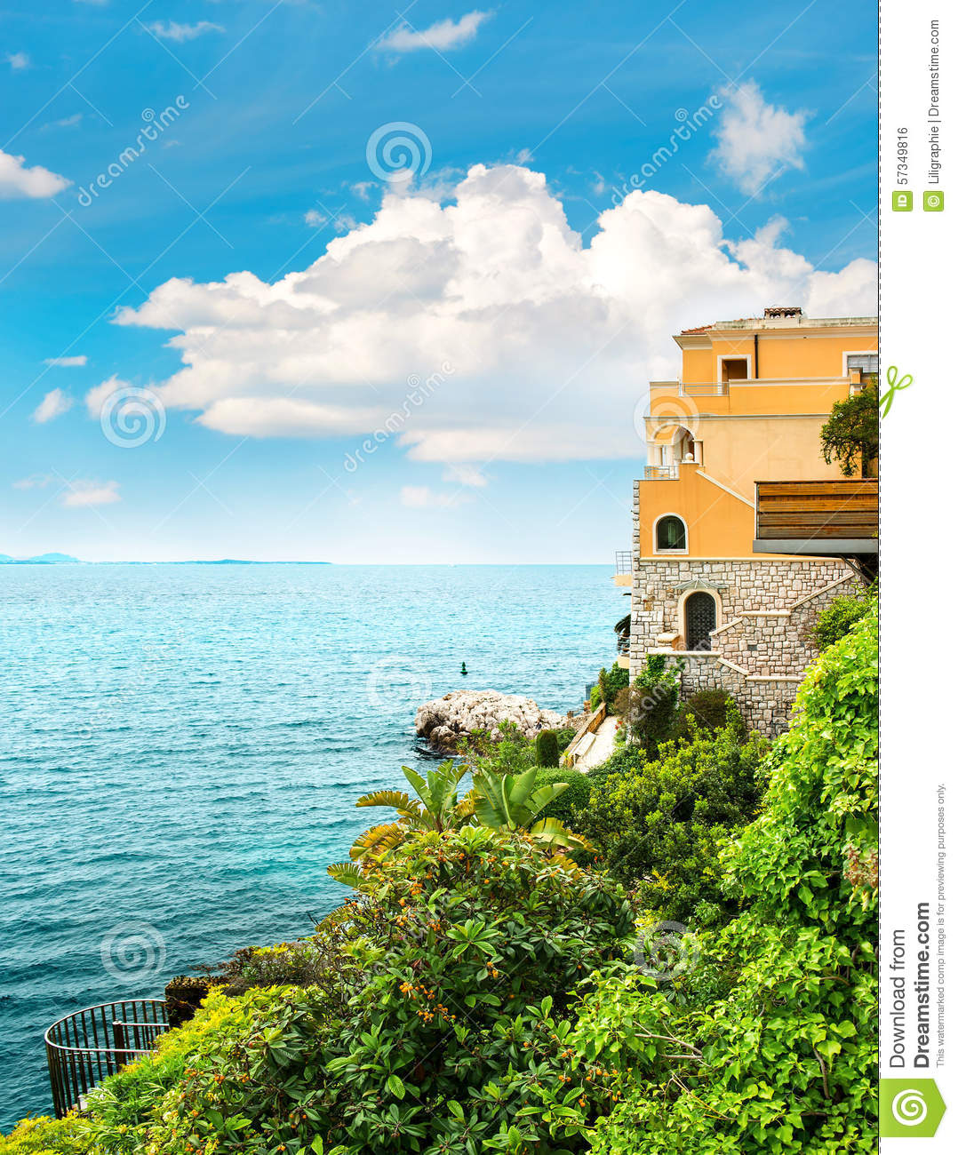 Sea And Sky. Beautiful Mediterranean Landscape, French