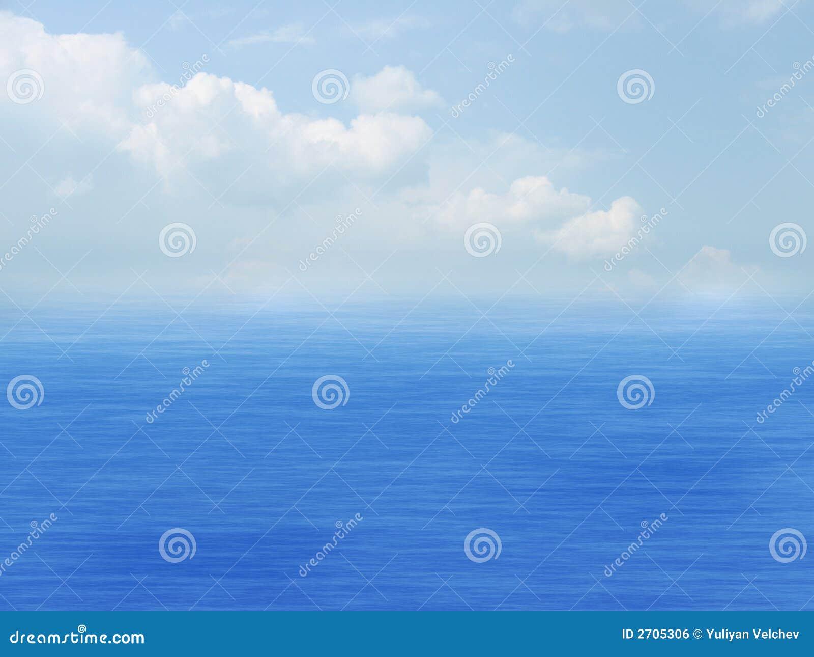 Sea, sky and clouds