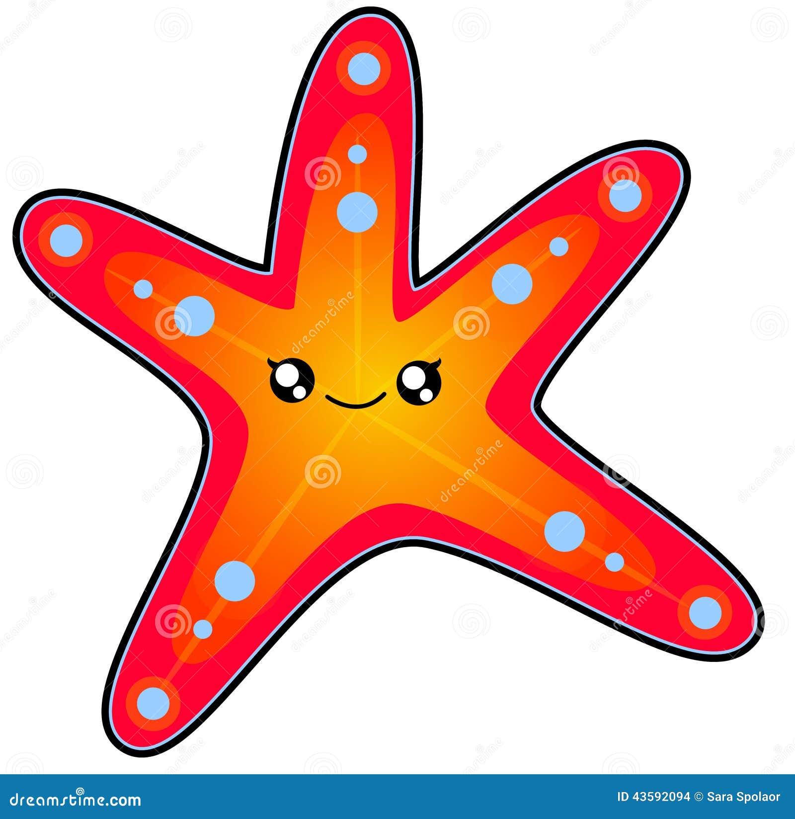 Sea Star Stock Illustration - Image: 43592094