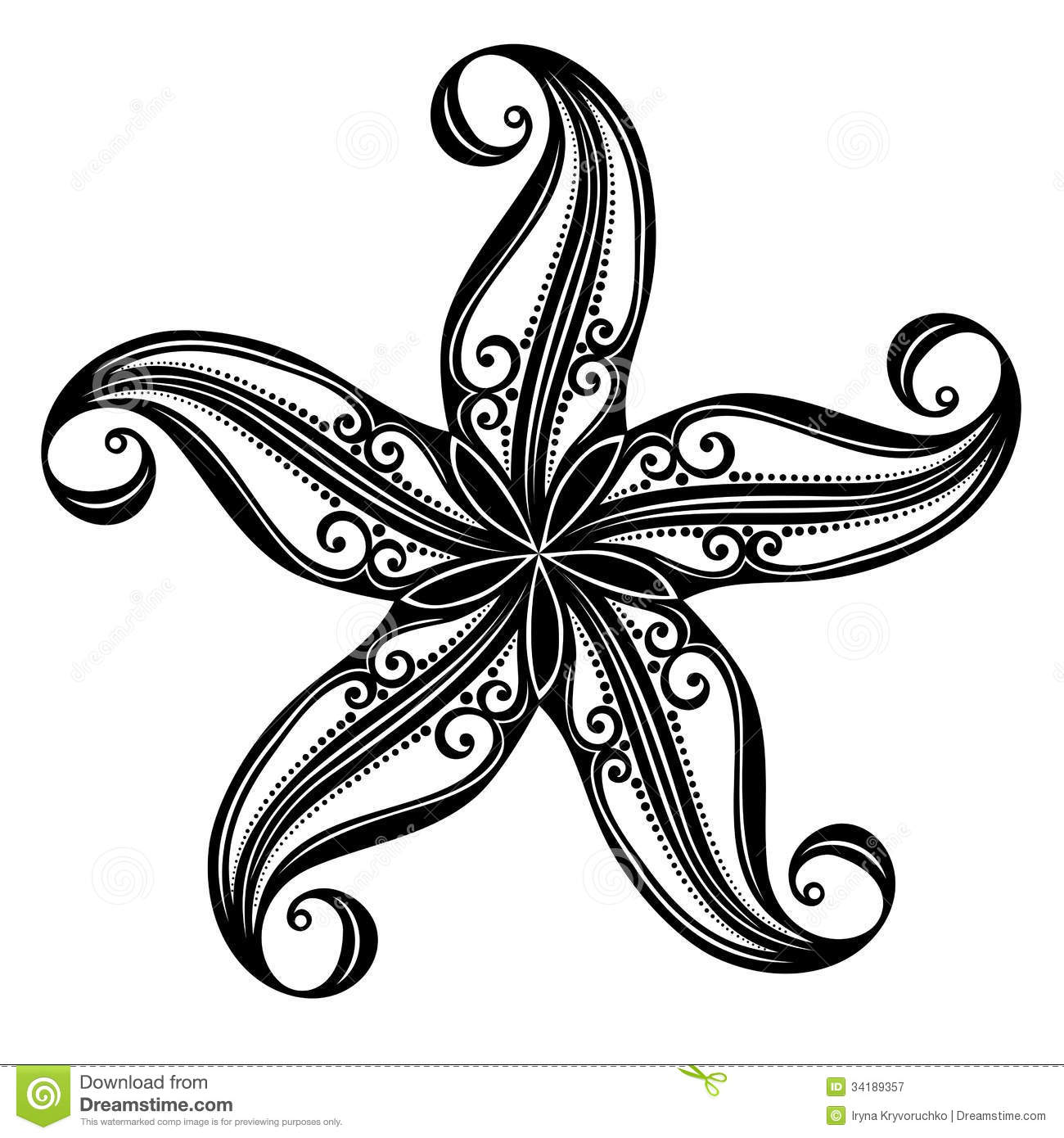 Starfish Stock Illustrations – 20,900 Starfish Stock Illustrations ... for Starfish Clipart Black And White  45hul