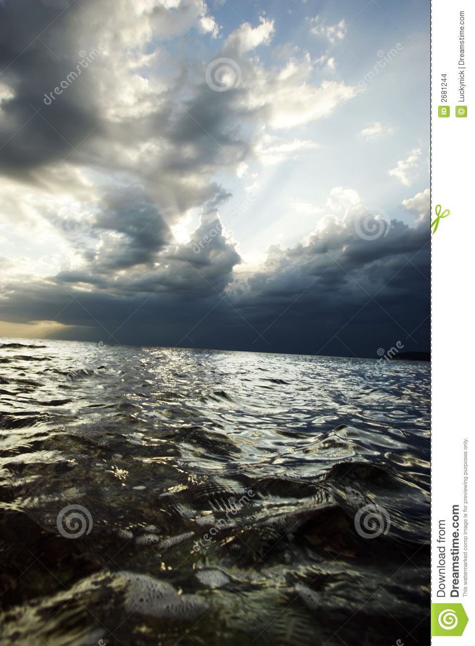 Sea before the storm