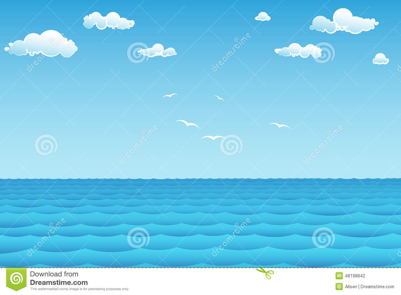 sea in summer day