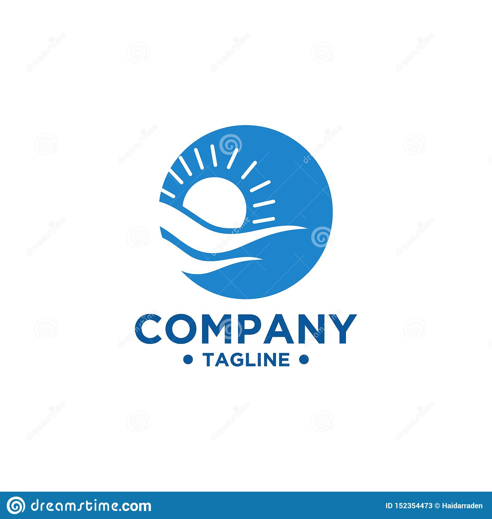 Sea and Sun logo design