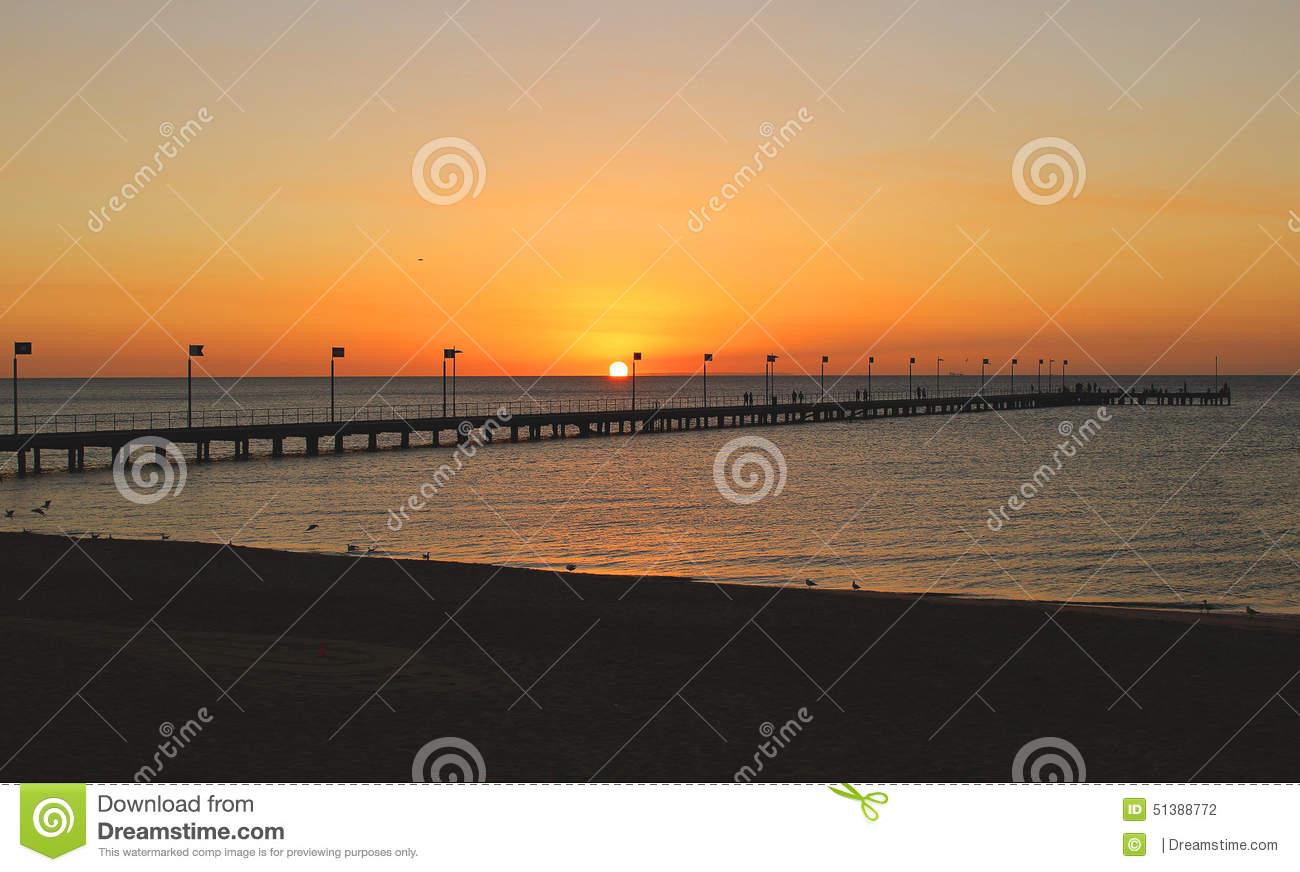 Frankston Australia  city images : Sea sunset at the beach, Frankston, Victoria, Australia.