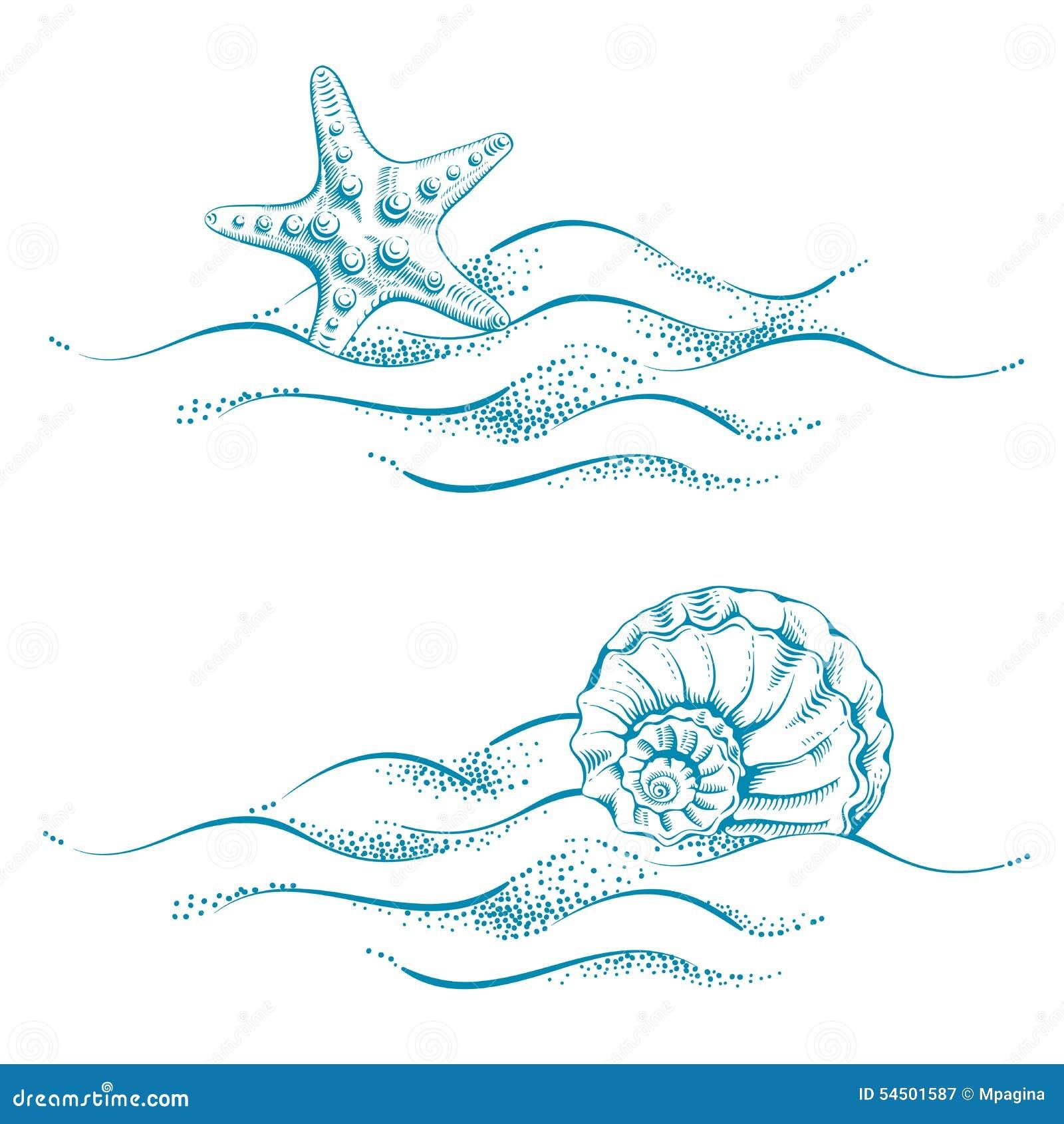 Sea Theme Stock Vector - Image: 54501587