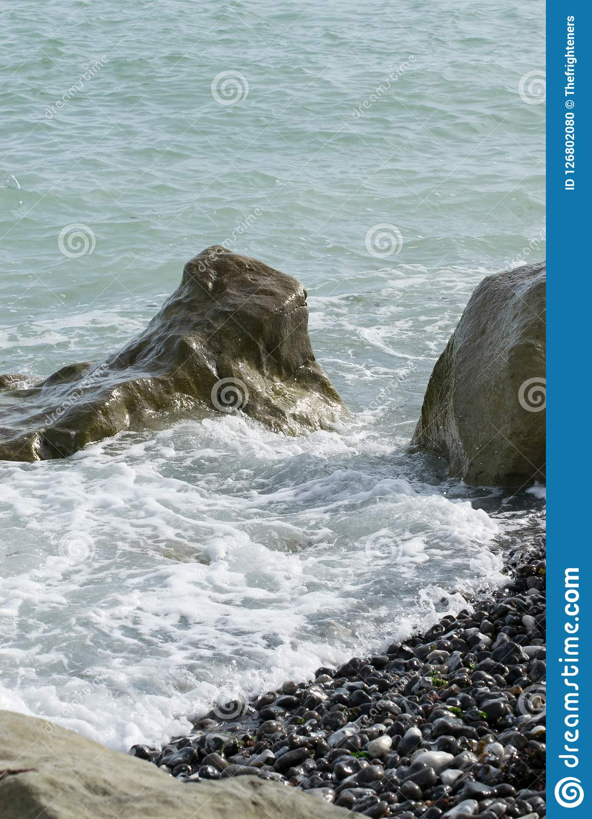 Sea Tide Off And Leaving The Rock Out Stock Photo Image Of