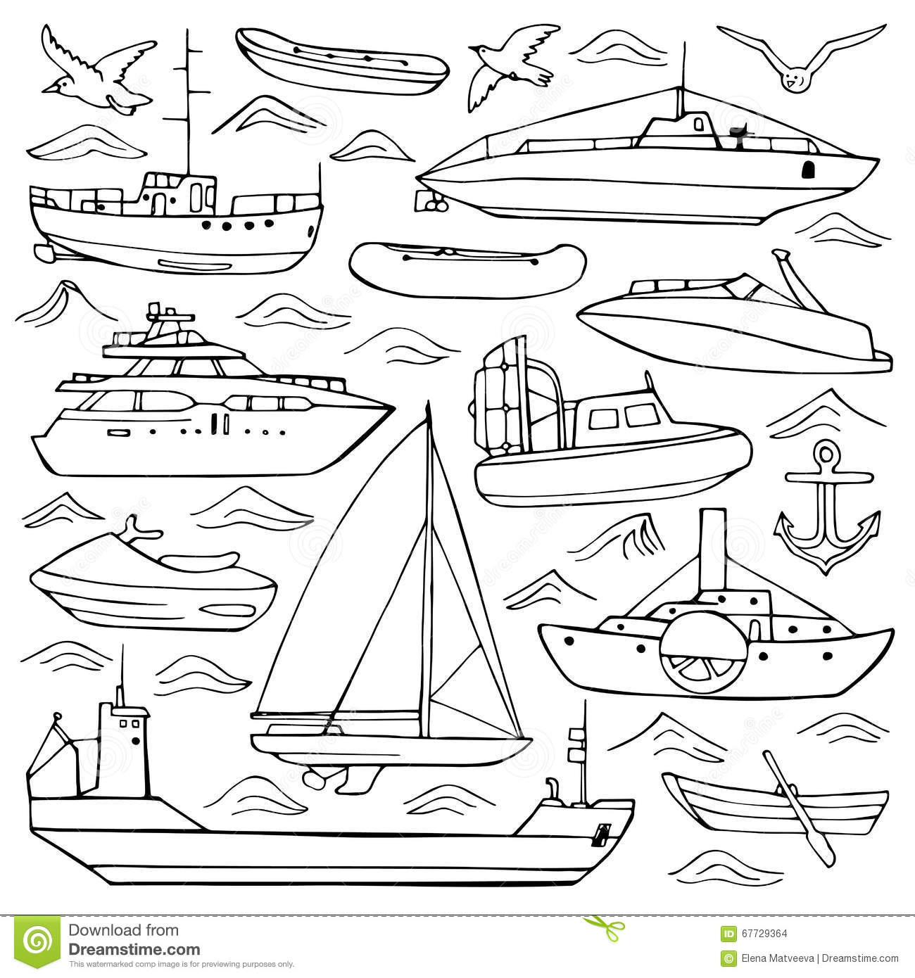 sea transport coloring pages - photo#10