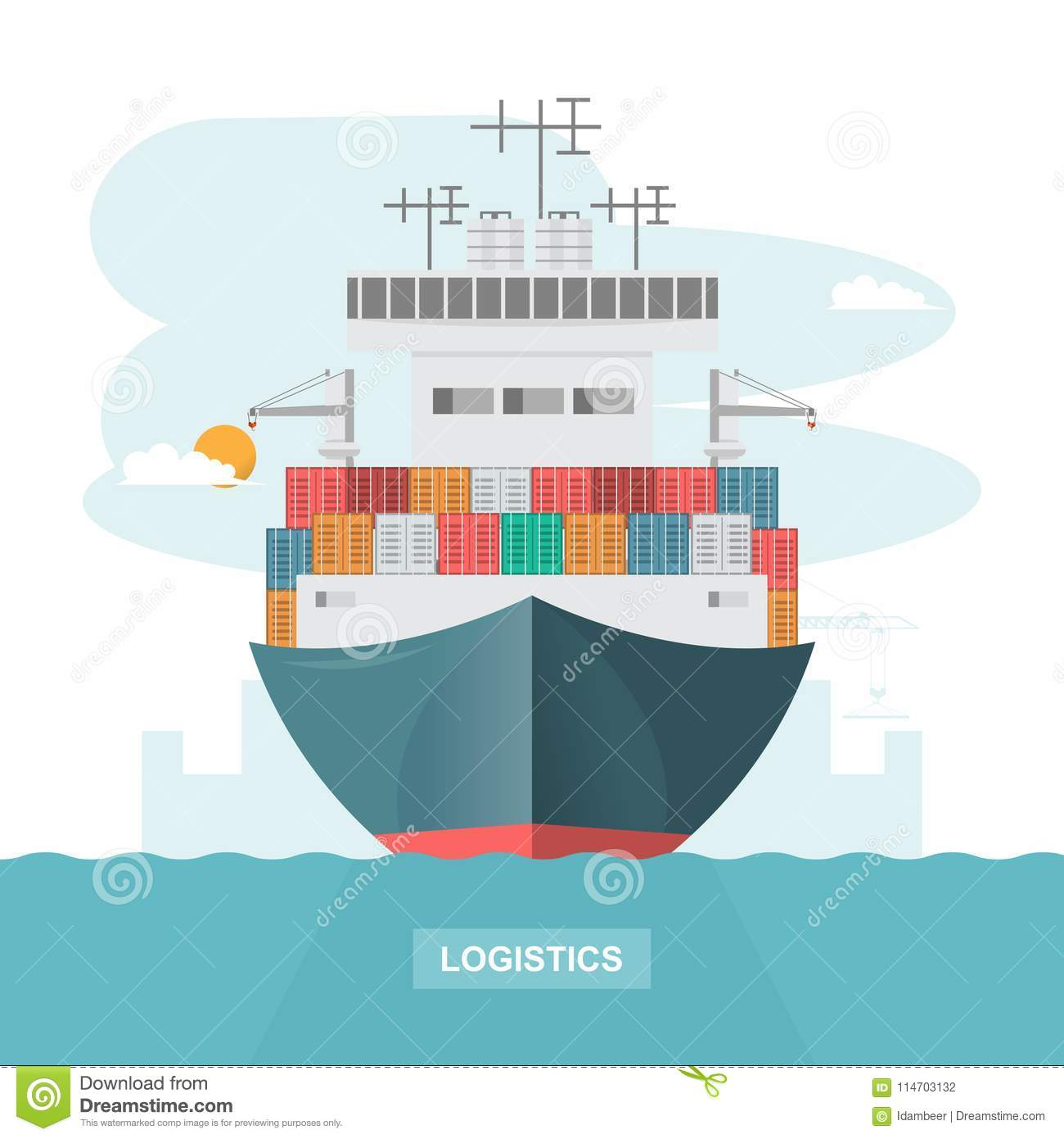 Sea Transportation Logistic  Sea Freight  Cargo Ship