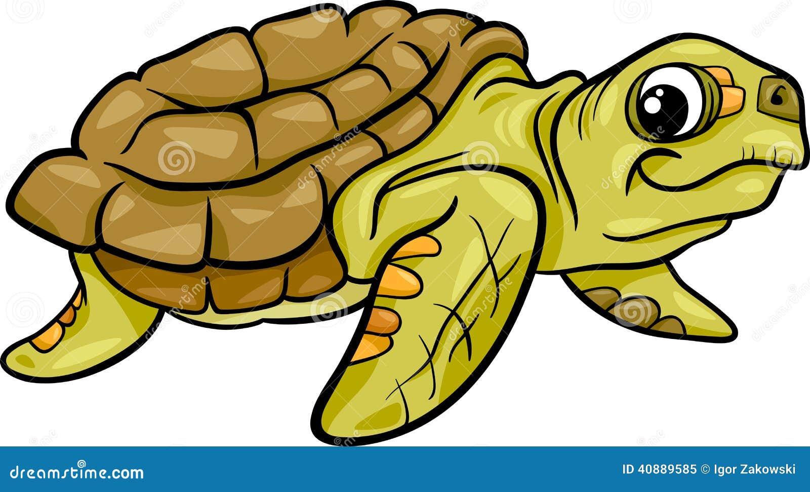 Sea Turtle Animal Cartoon Illustration Stock Vector - Image: 40889585