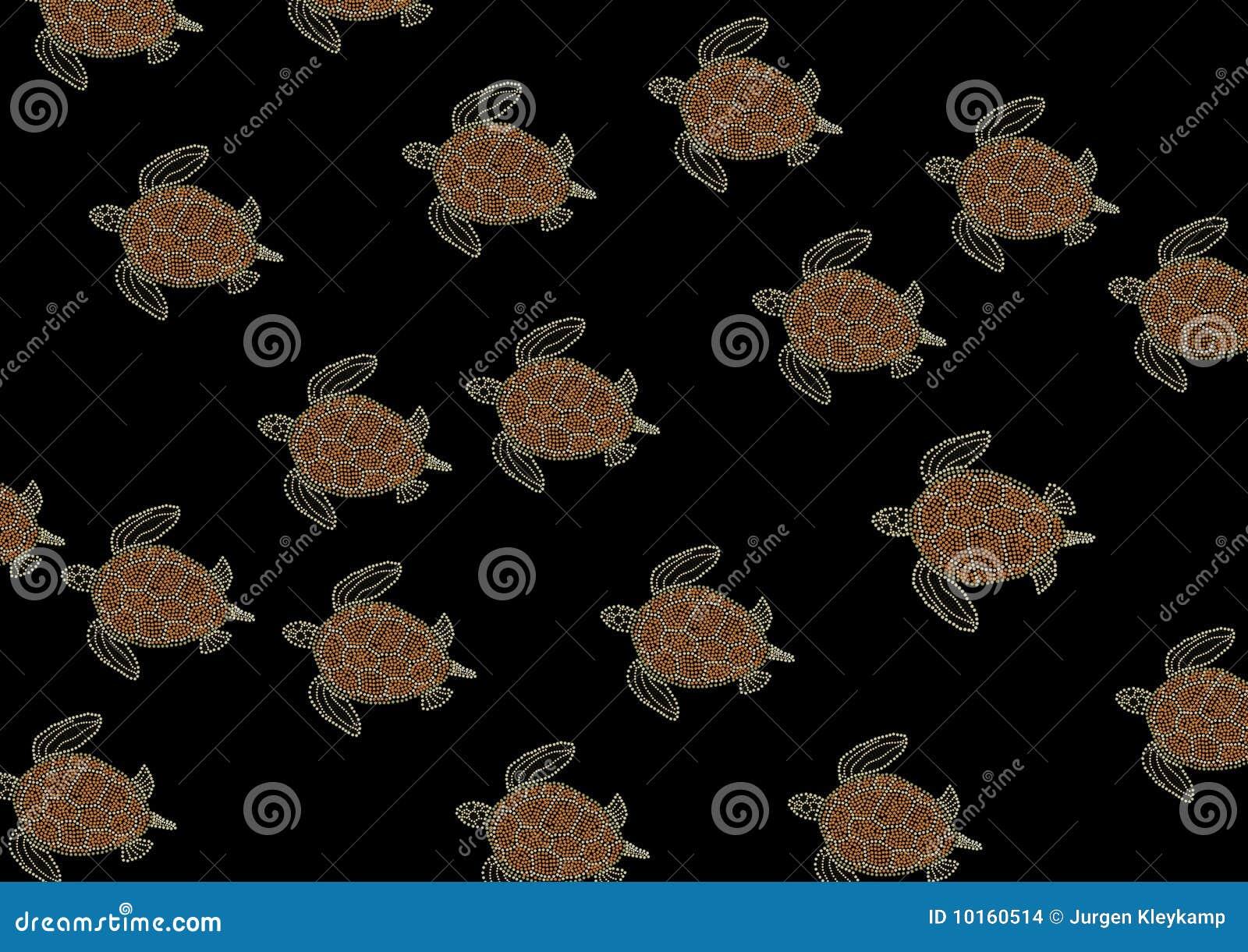 Sea turtles background