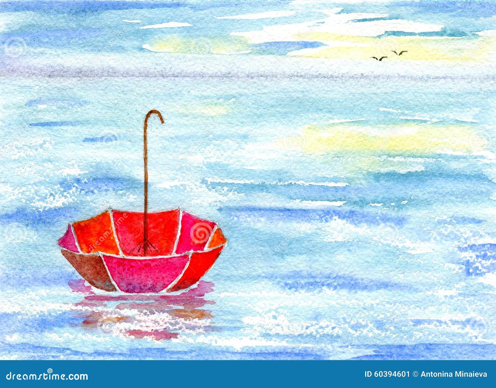 Sea and umbrella