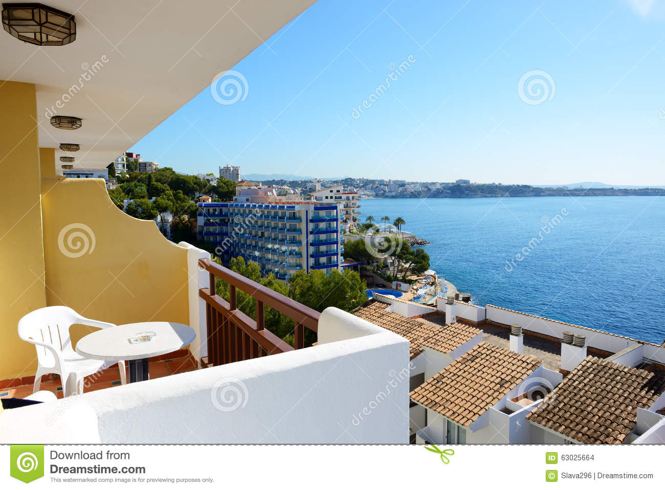 The sea view balcony at luxury hotel stock photo image for The balcony hotel