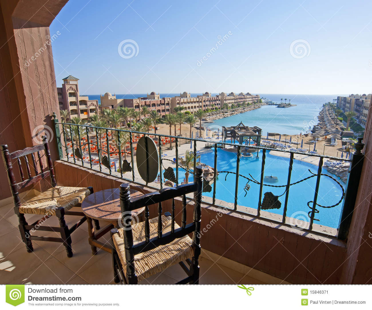 Sea View From A Hotel Room Balcony Stock Image Image 15846371