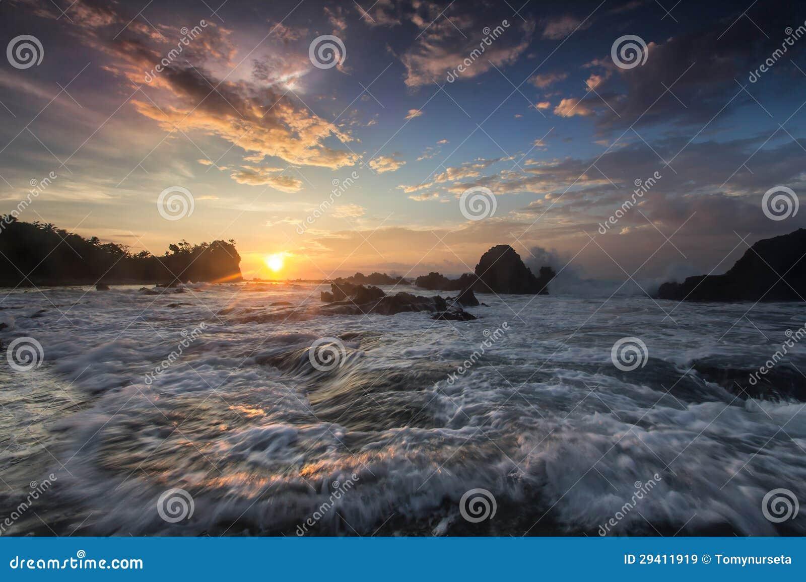 Sea view, sunrise