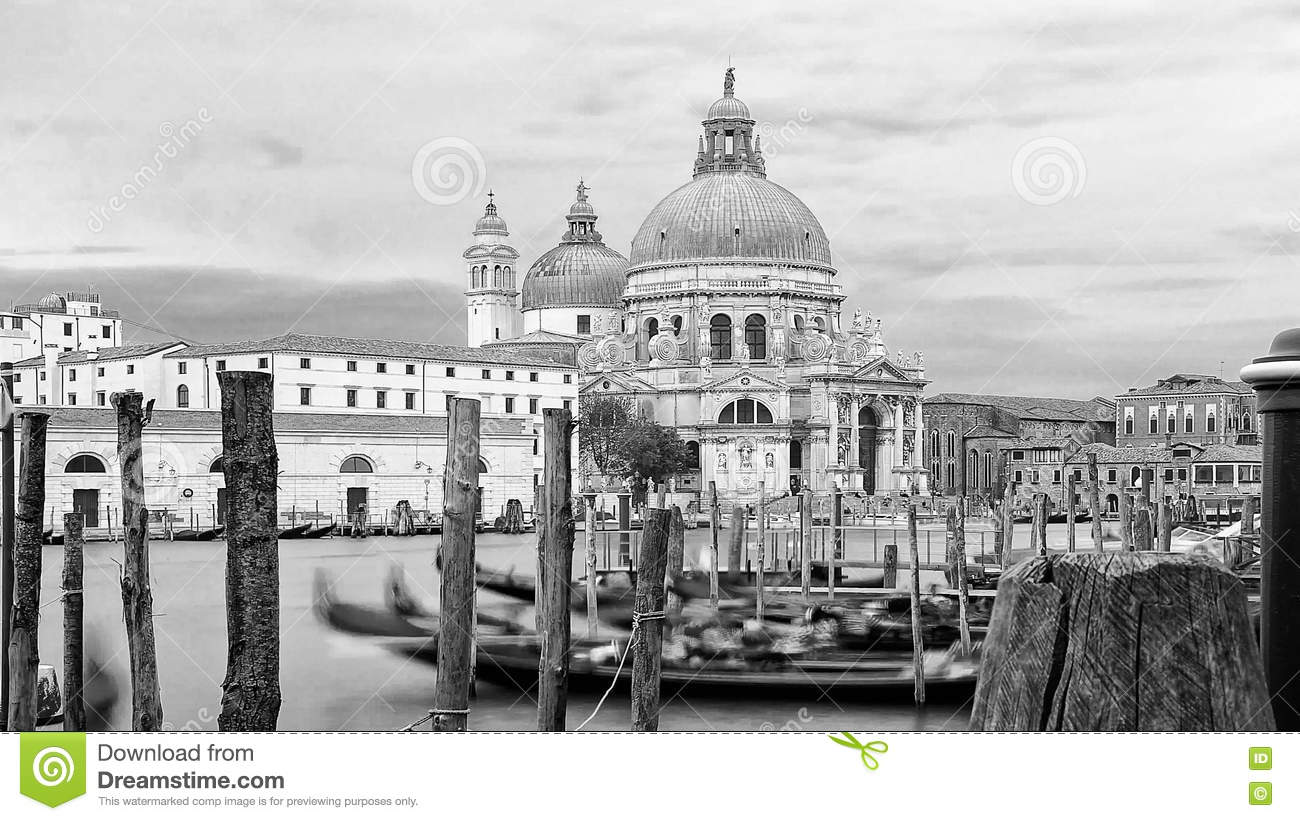 A sea view to the Basilica Santa Maria della Salute, Venice.