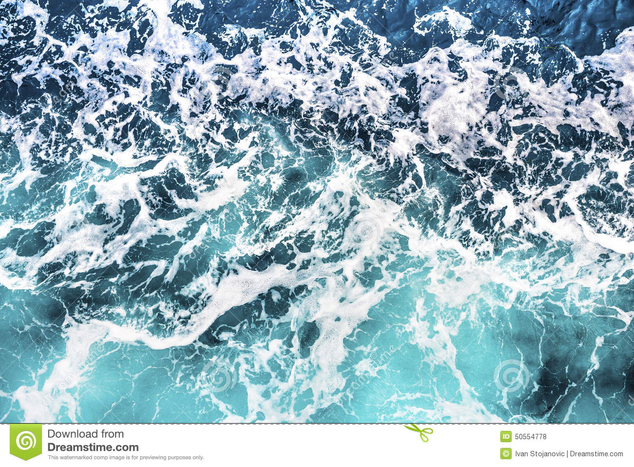 SEa Wave Foam Background Stock Photo - Image: 50554778