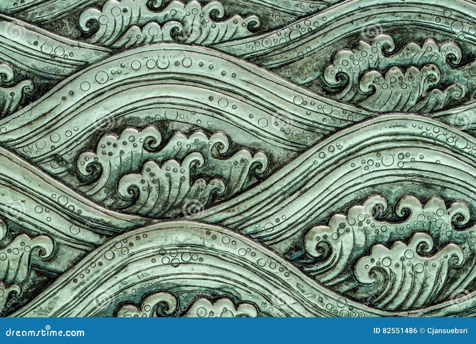 Sea wave pattern art