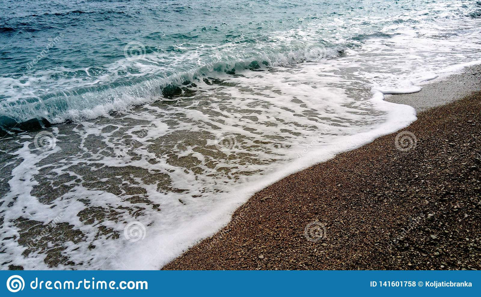 Sea waves on the beach