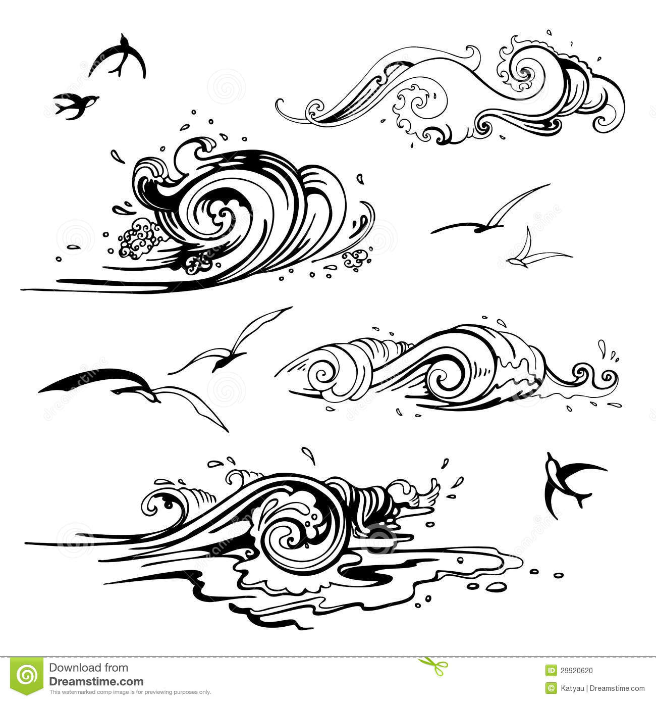 Gallery For gt Ocean Wave Drawing Black And White
