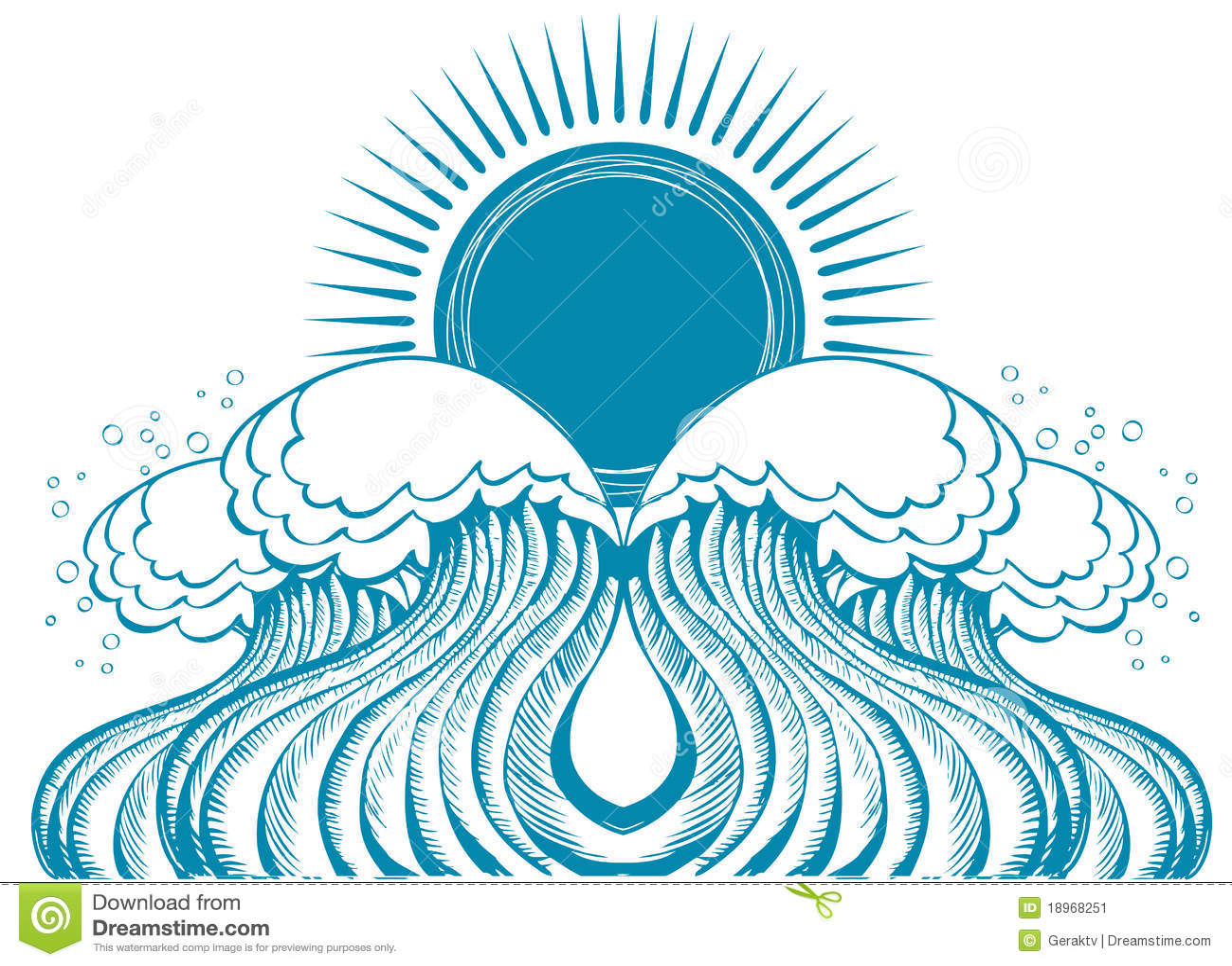 Sea waves vector illustration of symbol of nature stock vector sea waves vector illustration of symbol of nature icon pattern biocorpaavc Choice Image