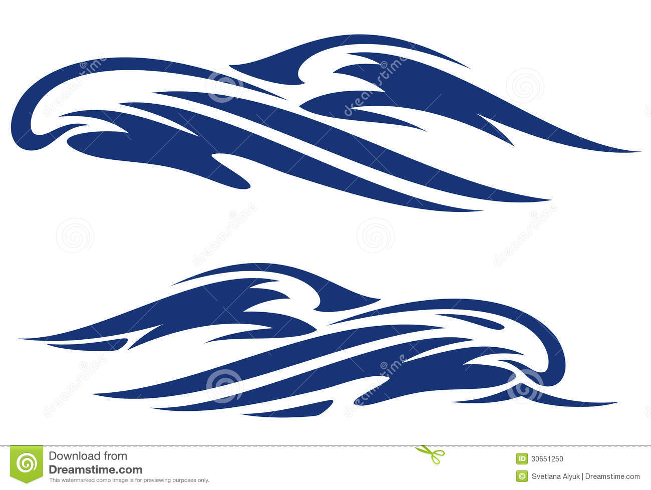 Sea Waves Vector Stock Photo - Image: 30651250