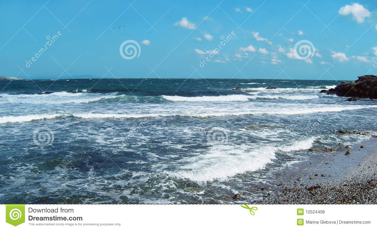 Sea Weather. Royalty Free Stock Photos