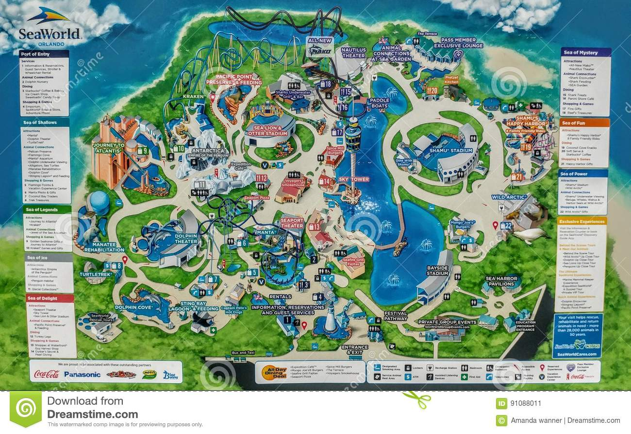 sea world map . sea world map  editorial photo image of dolphins