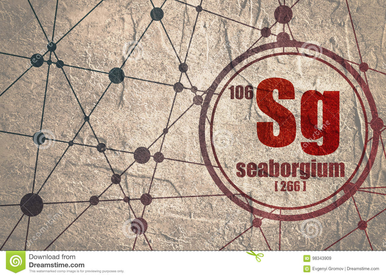 Seaborgium Chemical Element Stock Illustration Illustration Of