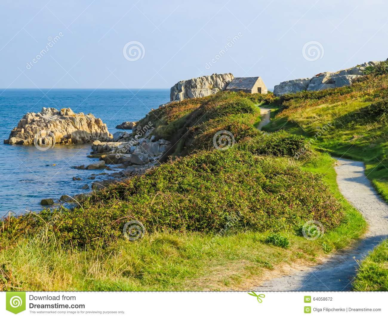 Seacoast on the guernsey island stock photo image 64058672 for Garden design jersey channel islands