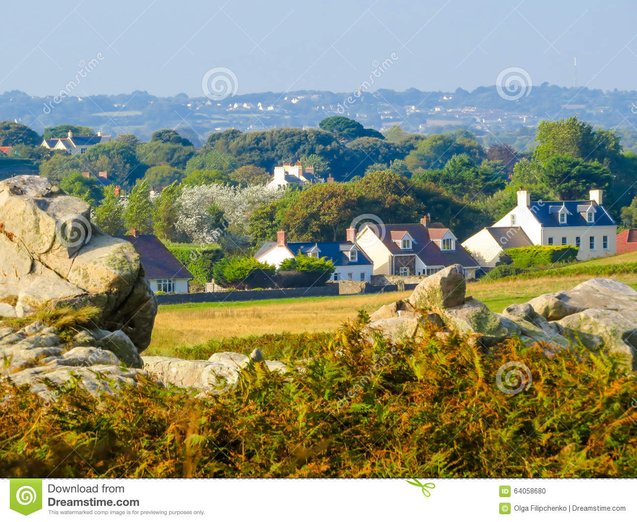 Seacoast on the guernsey island stock photo image 64058680 for Garden design jersey channel islands