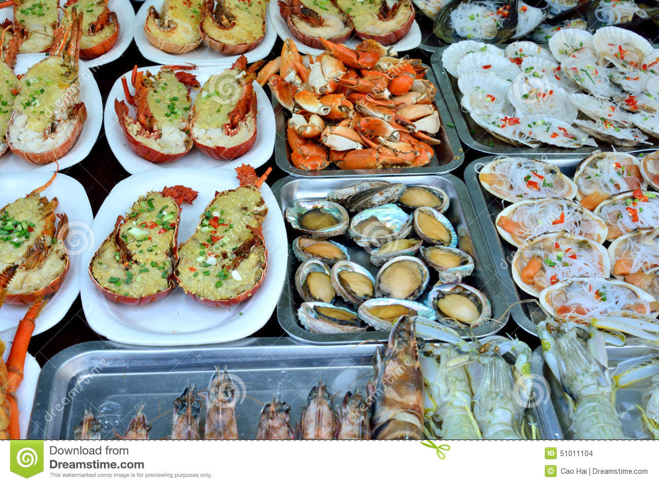 Seafood barbecue stock photo image 51011104 for Different ways to cook fish