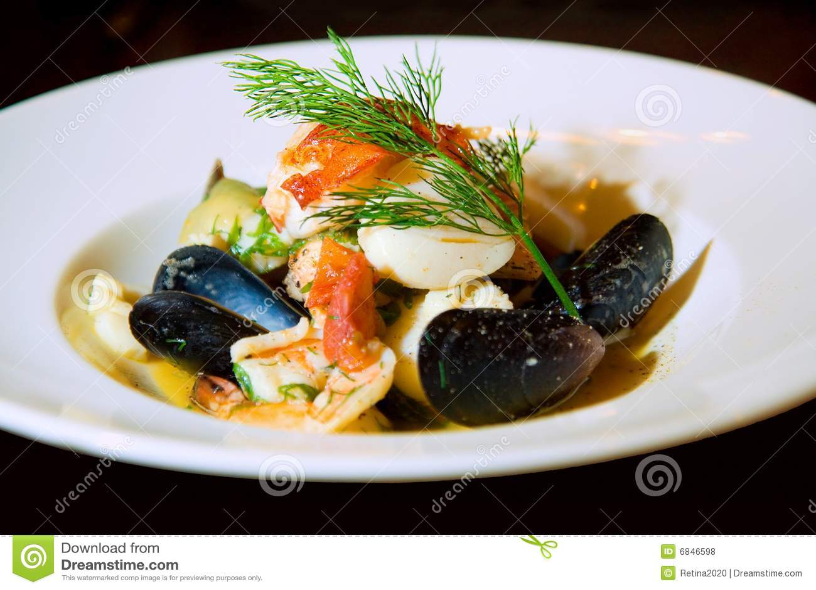 Seafood bouillabaisse or soup