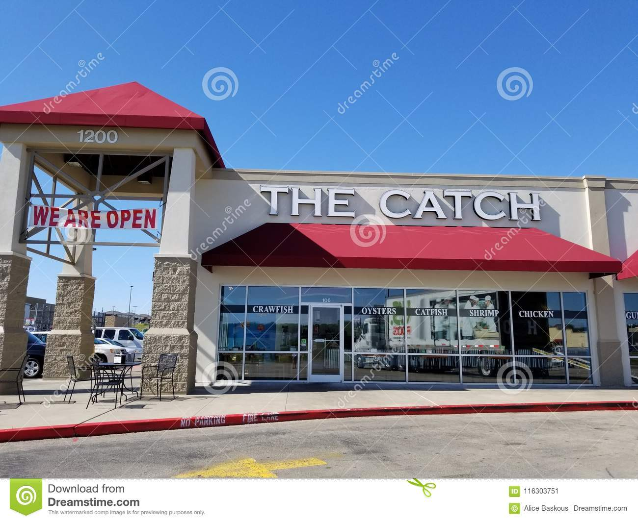 Seafood Cafe The Catch In Killeen Texas Editorial Photo