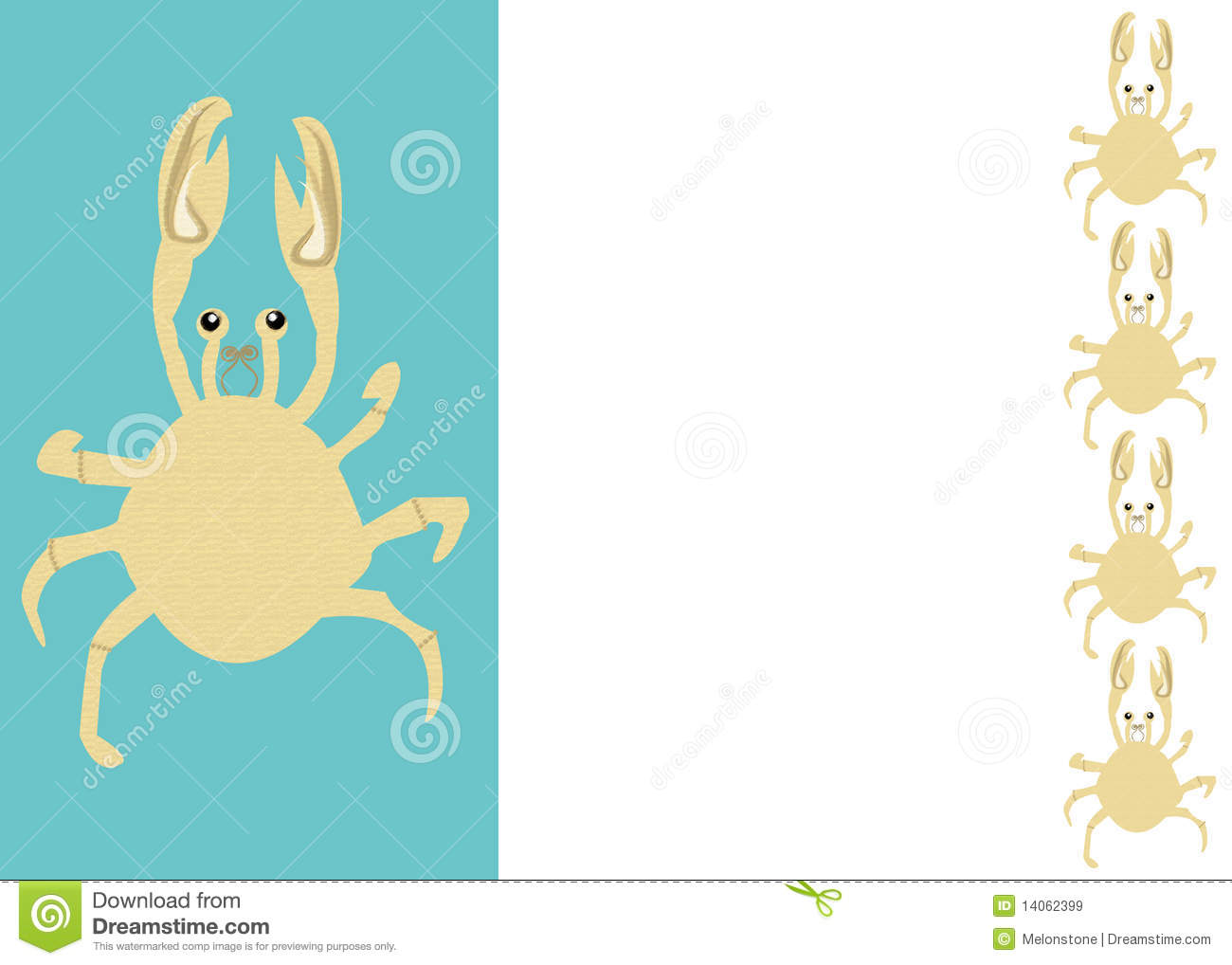 Border or frame of crabs with blank copy-space suitable for use as a ...