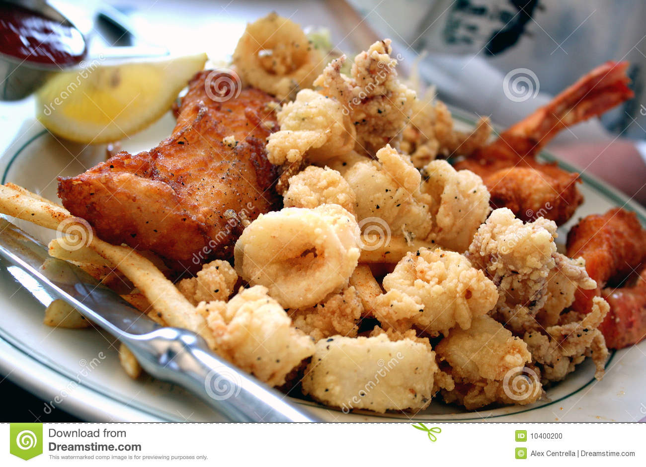 Seafood Dinner Stock Photo - Image: 10400200