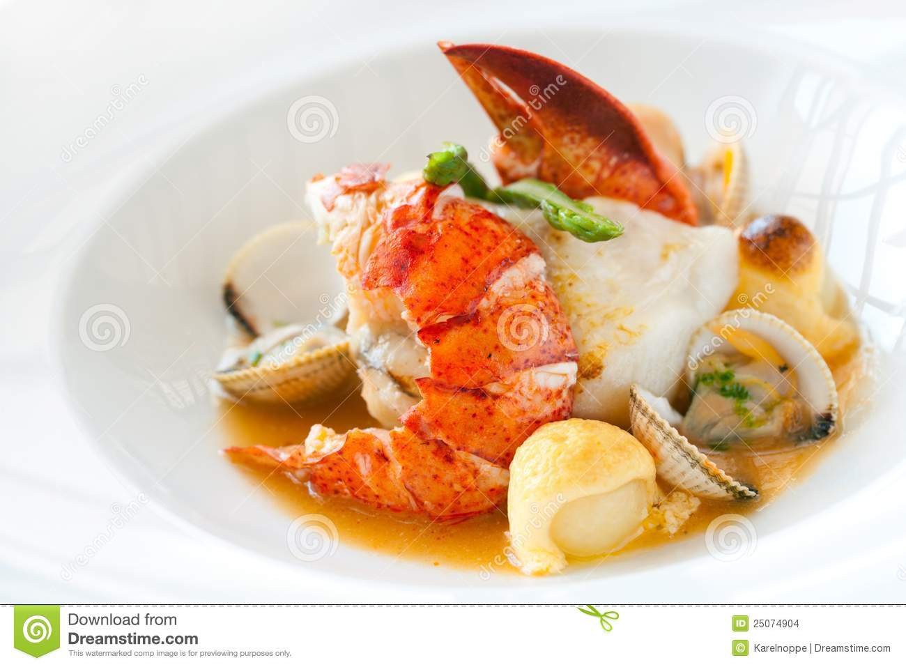 Seafood Dish With Lobster. Stock Images - Image: 25074904