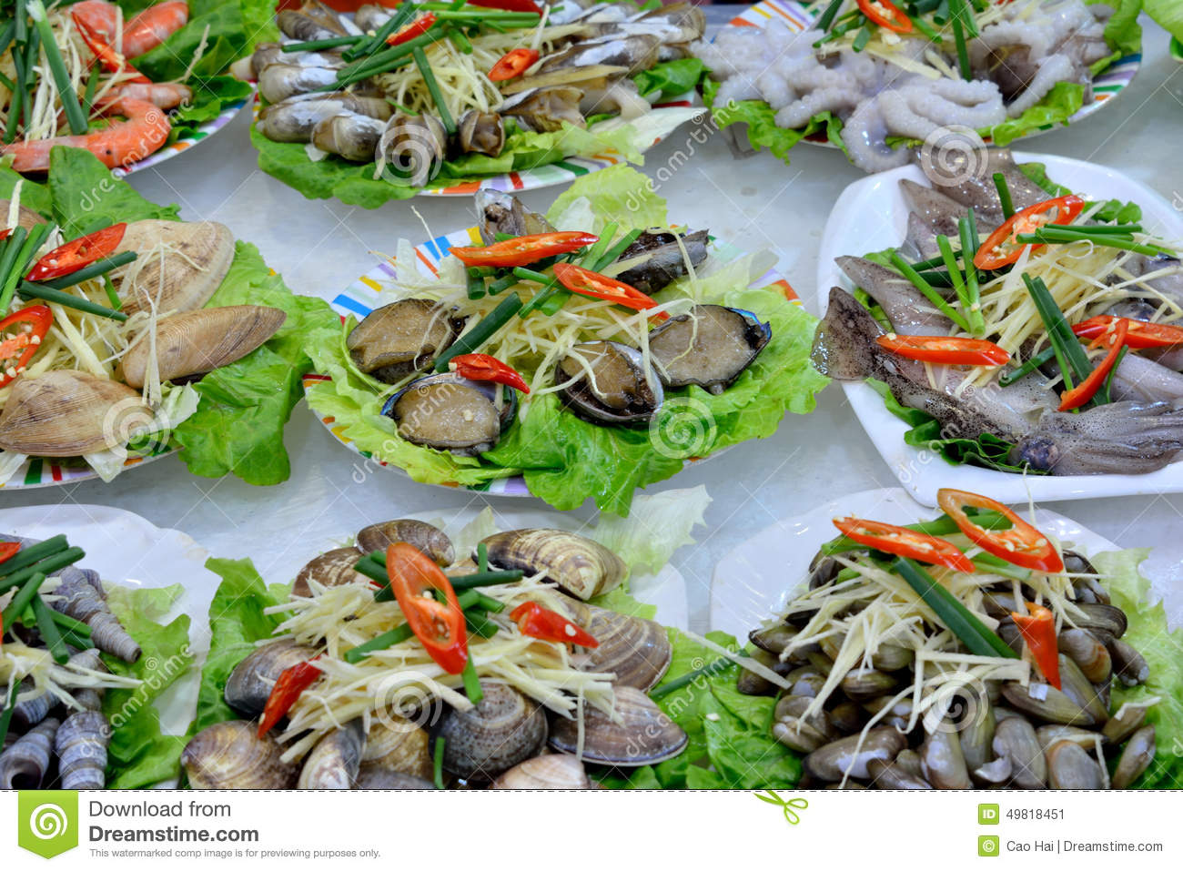 Seafood for dishes stock photo image 49818451 for Different ways to cook fish