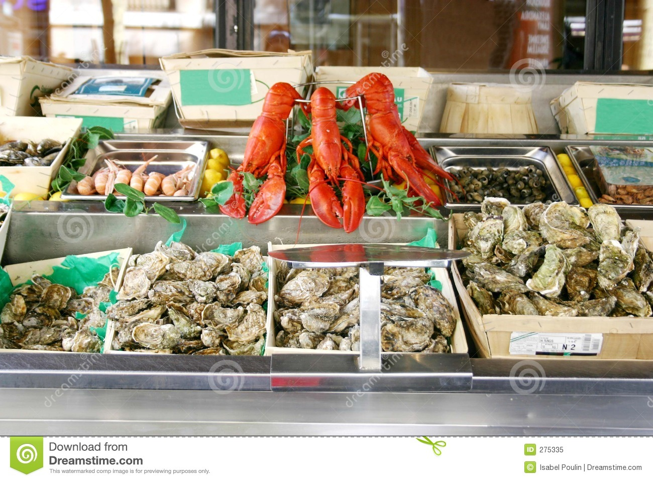 Seafood display in market royalty free stock photo image for Seafood fish market