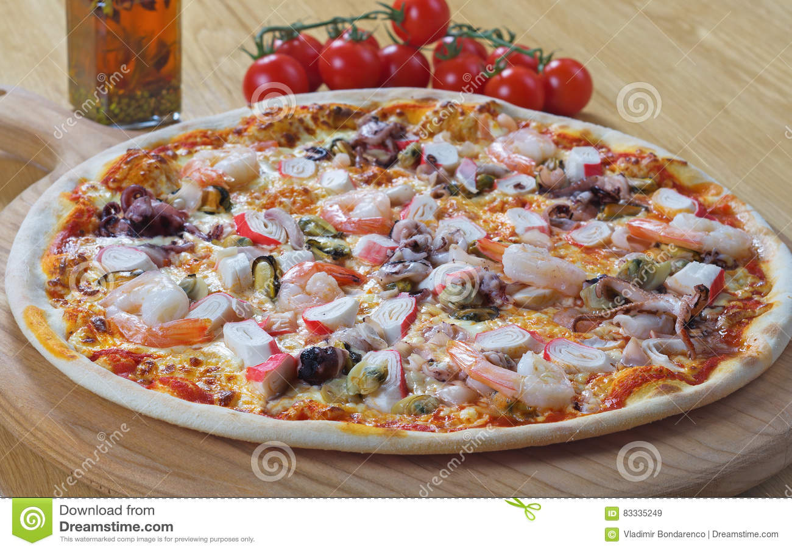 Original italian seafood pizza stock photography for Pizza original