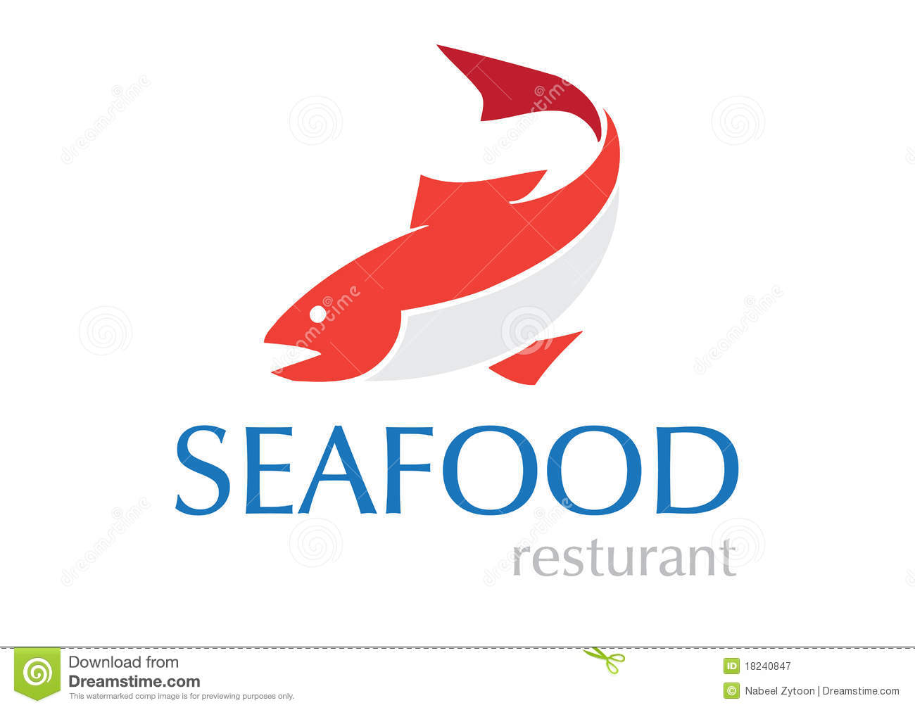 Seafood logo with helm and octopus isolated on white for Helm design