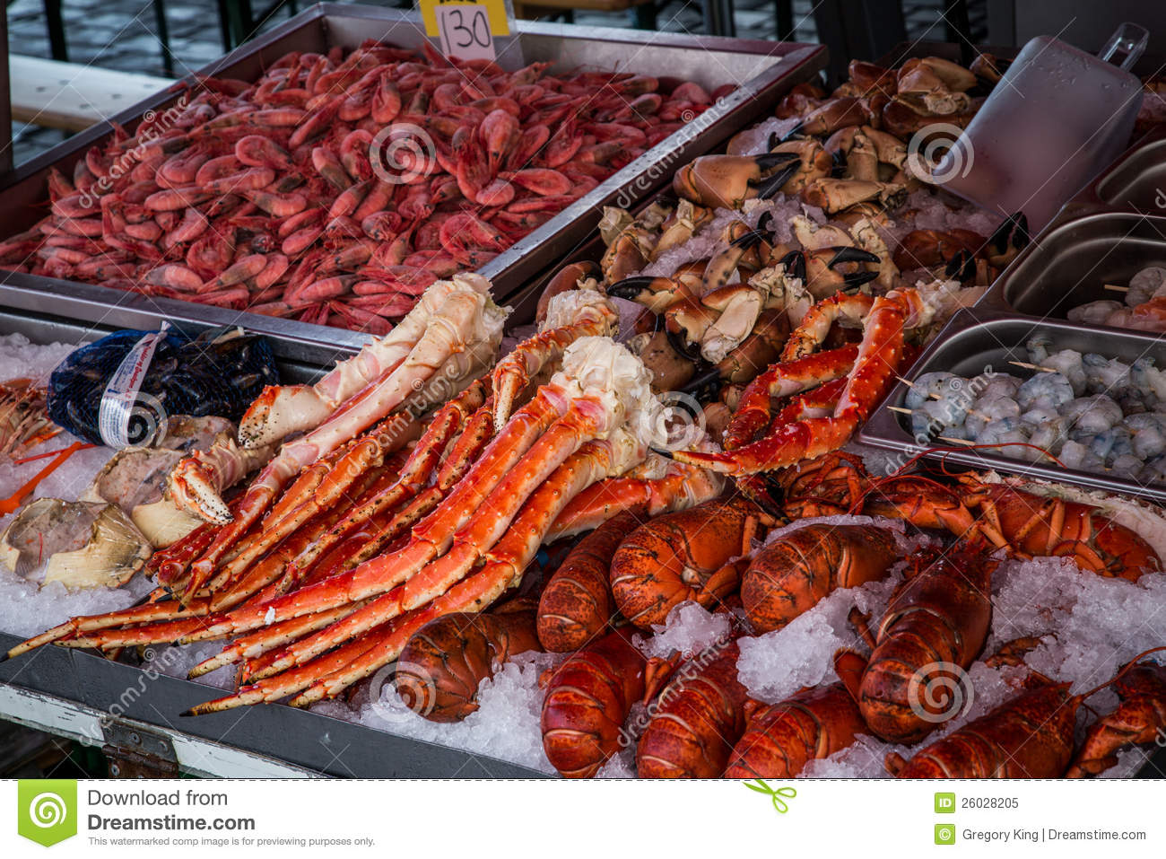 Seafood market stock image image of crabs food bergen for Seafood fish market