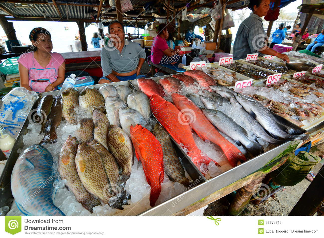 Seafood market rawai phuket thailand editorial stock for Phil s fish market eatery