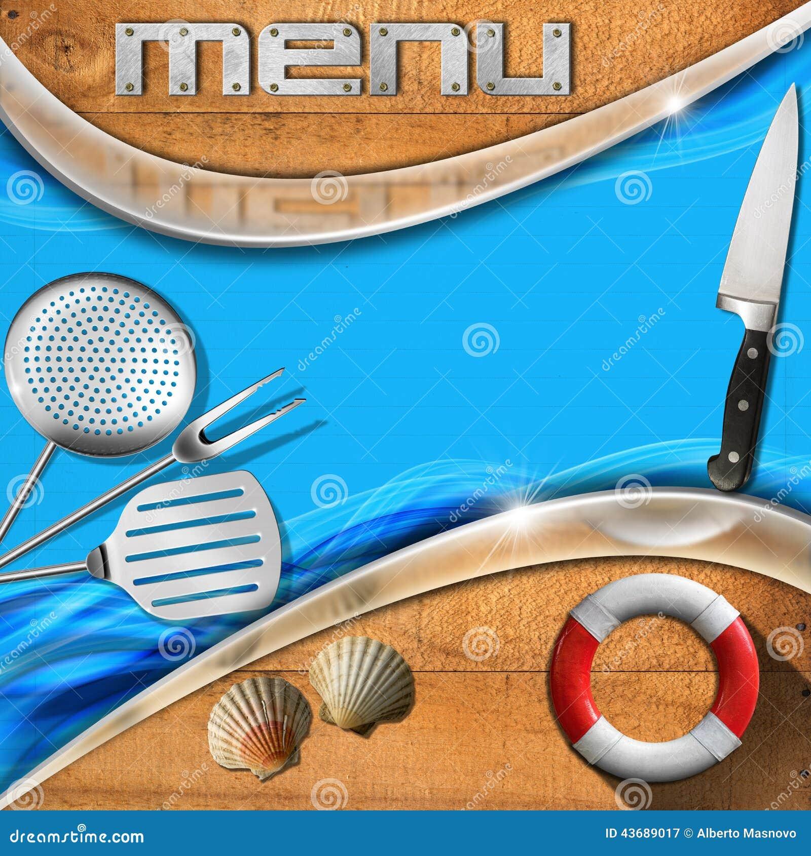 Seafood Menu Template Stock Illustration Image 43689017